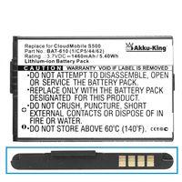 Akku-King Akku kompatibel mit Acer BAT-610, BAT-610, BT.0010S.006 - Li-Ion 1460mAh - für CloudMobile S500