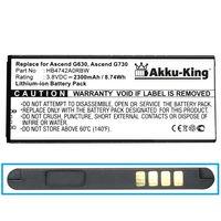 Akku-King Akku kompatibel mit Huawei HB4742A0RBC, HB4742A0RBW - Li-Ion 2300mAh - für Ascend G730, G740, Honor H30, Honor 3C