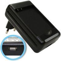 Akku-Ladegerät für HTC Ace, Oboe, PD98120, PD98120, 7 Surround A9191, Desire HD, Inspire 4G, Mondrian - Akku BA-S470, 35H00141-03M - mit USB-Anschluss