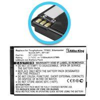 Akku kompatibel mit JCB XP1-0001100 - Li-Ion 1100mAh - für Toughphone Sitemaster 3G, TP802, TP803, Socketmobile Sonim XP1, XP1 BT, XP3 Enduro