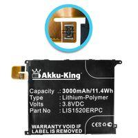 Akku-King Akku kompatibel mit Sony LIS1520ERPC - Li-Polymer 3000mAh - für Ericsson C6616, C6802, C6803, C6843, LT39h, XL39, XL39h, Togari, Yuga Rex