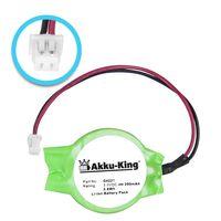 Akku-King Backup, CMOS Knopfzelle mit Stecker für Dell Latitude D505, D510, D520, D600, D610 - Li-Ion 200mAh