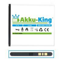 Akku-King Akku ersetzt Sony BA800 - Li-Ion 1850mAh - für Ericsson Xperia LT25 LT25i AX S V VC VL, LT25, SO-01E, SOL21, Hikari, Nozomi, Tsubasa Xin