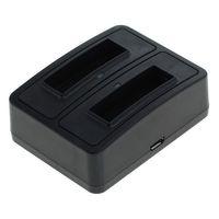 Dual Akku Ladestation 1302 für Konica Minolta NP-900, Olympus LI-80B - schwarz