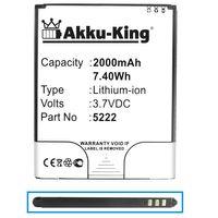 Akku-King Akku kompatibel mit Wiko 5222 - Li-Ion 2000mAh - für Rainbow Jam