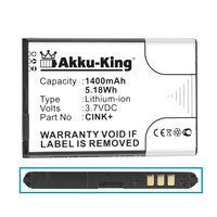 Akku-King Akku kompatibel mit Wiko Cink+ - Li-Ion 1400mAh - für Cink, Cink+
