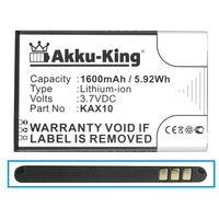Akku-King Akku ersetzt Kazam KAX10 - Li-Ion 1600mAh - für Trooper X4.0
