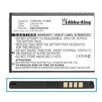 Akku-King Akku kompatibel mit Huawei E5573, E5776S-601 - ersetzt HB434666RAW - Li-Ion 1150mAh