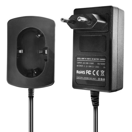 Ladegerät kompatibel mit Makita Ni-MH/Ni-CD Werkzeug-Akkus 7.2-9.6V, 9.6V, 12V, 14.4V, 18V - 1.5A, 1A