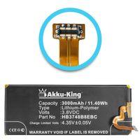 Akku-King Akku kompatibel mit Huawei HB3748B8EBC - Li-Polymer 3000mAh - für Ascend G7, Maimang