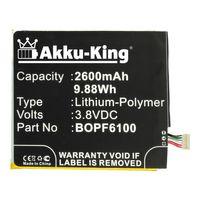 Akku-King Akku kompatibel mit HTC 35H00232-00M - Li-Polymer 2600mAh - für Desire 820, 826, A51