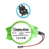 Akku-King Backup, CMOS Batterie für Apple Macbook Pro 15 Zoll, 15.4 Zoll A1211 - ersetzt 922-7913 - Li-Ion 150mAh