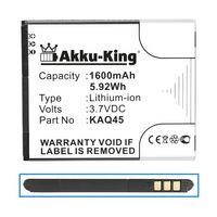 Akku-King Akku ersetzt Kazam KAQ45 - Li-Ion 1600mAh - für Thunder 4.5, Thunder Q4.5