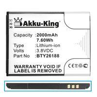 Akku-King Akku kompatibel mit Mobistel BTY26188 - Li-Ion 2000mAh - für Cynus F6, Posh E500A, Titan HD