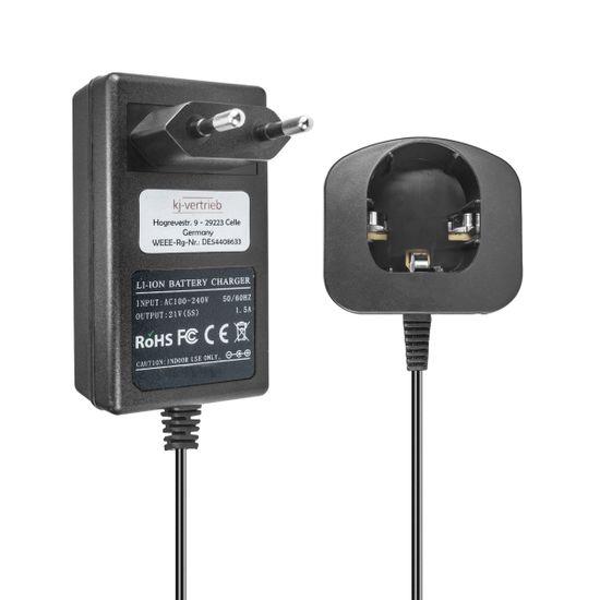Ladegerät kompatibel mit Ryobi Li-Ion Werkzeug-Akkus BPL-1815, BPL-1820G, P102, P103, P104, P107 - 21V 1.5A