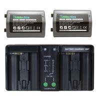 Duo Akku-Ladegerät kompatibel mit Nikon D4, D4S Akku + 2x Akku-King Akku EN-EL18