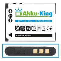 Akku kompatibel mit Sanyo DB-L80, DB-L80AU - Li-Ion 700mAh - für Xacti DMX-CG10, DMX-CG100, DMX-CG11, DMX-CS1, DMX-GH1, VPC-CA100, VPC-CA102