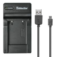 USB-Akku-Ladegerät kompatibel mit Pentax D-Li2, D-Li7, D-Li8