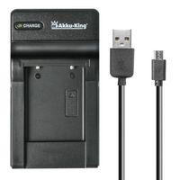 USB-Akku-Ladegerät kompatibel mit Samsung SLB-0737, SLB-0837, SLB-1037, SLB-1137