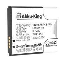 Akku-King Akku ersetzt Alcatet TLi014A1 - Li-Ion 1300mAh - für One Touch Evolve, Evolve 2, Fire, Glory 2T, Inspire 2, Pixi 3 4.5, Pixi Pulsar LTE