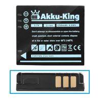 Akku kompatibel mit Ricoh DB-60, DB-65, BJ-6 - Li-Ion 1250mAh - für Caplio G600, GR Digital, GR Digital II, GR, GX100, GX200, R3, R30, R4, R4