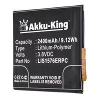 Akku kompatibel mit Sony LIS1576ERPC, AGPB014-A001 - Li-Polymer 2400mAh - für Xperia M4, M4 Aqua Dual LTE, E2303, E2306, E2312, E2333, E2353