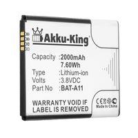 Akku-King Akku kompatibel mit BAT-A11 - Li-Ion 2000mAh - für Acer Liquid M330, M330 Dual SIM, M330 LTE, Z330, Z410, TM01