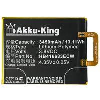Akku kompatibel mit Google HB416683ECW - Li-Polymer 3450mAh - für Google Nexus 6P, 6P A1, 6P A2, Huawei Angler, H1511, H1512