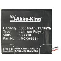 Akku-King Akku kompatibel mit Amazon MC-308594 - Li-Polymer 3000mAh - für Amazon Kindle Fire 7 5.Generation, SV98LN