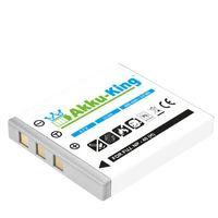 Akku-King Akku kompatibel mit Pentax D-Li8 - Li-Ion 800mAh - für Optio A10, A20, A30, A40, L20, S, S4, S4i, S5i, S5n, S5z, S6, S7, SV, SVi, T10, T20, W10