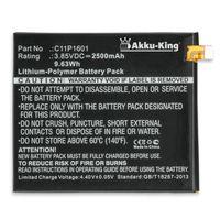 Akku kompatibel mit Asus C11P1601 - Li-Polymer 2500mAh - für ZenFone 3 5.2, ZenFone 3 Dual SIM Global LTE, ZE520KL