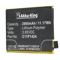 "Akku kompatibel mit Asus C11P1424 - Li-Polymer 2900mAh - für ZenFone Go, Go Dual SIM, Go Dual SIM TD-LTE, ZenFone 2 5.5"", 2 Deluxe, ZB552KL"
