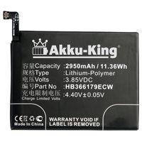 Akku-King Akku ersetzt Huawei HB366179ECW - Li-Polymer 2950mAh - für Nova 2, 2 Dual SIM, PIC-AL00, PIC-TL00
