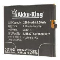 Akku-King Akku kompatibel mit ZTE Li3822T43P3h786032 - Li-Polymer 2200mAh - für Blade V6, X7, Orbic-RC-501L