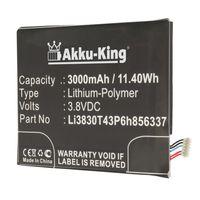 Akku-King Akku ersetzt BlackBerry Li3830T43P6h856337 - Li-Polymer 3000mAh - für Aurora, BBC100-1, ZTE Blade A602, S6 Lux Dual SIM, V Plus, V580