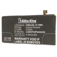 Akku kompatibel mit ZTE Li3823T43PhA54236 - Li-Polymer 2300mAh - für Blade VEC 4G, S6, Rono, Nubia Z7 Mini, Z7 Mini Dual SIM, Geek 2, A880