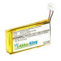 Akku-King Akku ersetzt Sennheiser 504374, BATT-03 - Li-Polymer 180mAh - für Sennheiser D10, DW Office, Pro 1, Pro 2, Pro 30, MB Pro 1, MB Pro 2, OfficeRunner