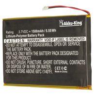 Akku-King Akku ersetzt BARNES & NOBLE PR-285083 - Li-Polymer 1500mAh - für BARNES & NOBLE BNRV510 Nook Glowlight Plus 2015, KOBO Glo HD