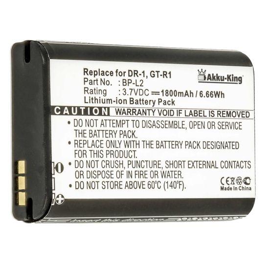 Akku-King Akku ersetzt Tascam BP-L2 - Li-Polymer 1800mAh - für Tascam DR-1, GT-R1