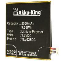 Akku-King Akku ersetzt Alcatel TLp025DC - Li-Polymer 2500mAh - für Alcatel One Touch Pixi 4 6.0, One Touch Pixi 4 6.0 3G, OT-8050D, OT-9001A, OT-9001X, Pixi 4 6.0