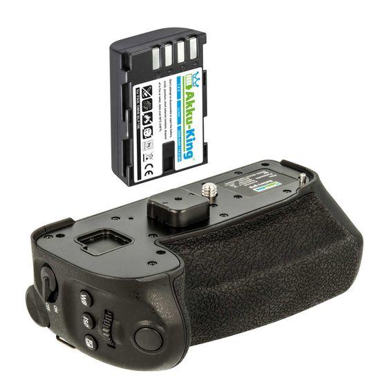 Batteriegriff Set für Panasonic Lumix DC-G9 - ersetzt DMW-BGG9 - inkl. Akku-King Akku DMW-BLF19 2000mAh