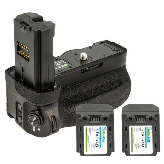 Batteriegriff Set für Sony Alpha a9, a7 III, a7R III, a7S III, a7RM3, 7M3 - Bedienelemente am Griff - ersetzt VG-C3EM - inkl 2x Akku-King Akku NP-FZ100