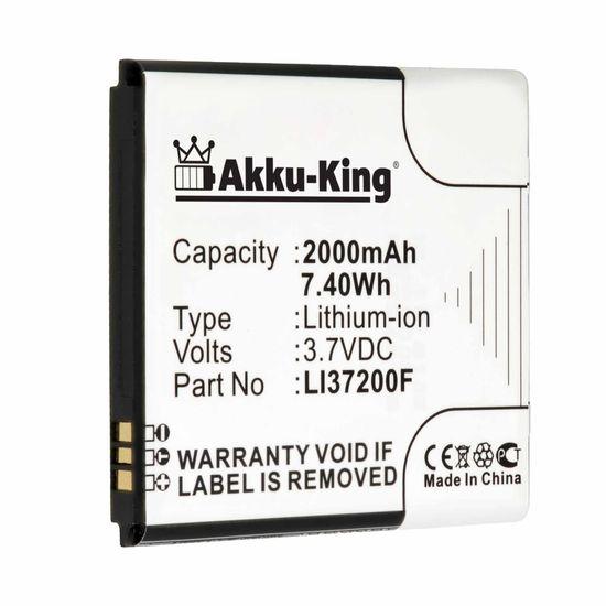 Akku-King Akku kompatibel mit Medion LI37200F - Li-Ion 2000mAh - für Medion Life X4701, MD98272, Smartphone X4701