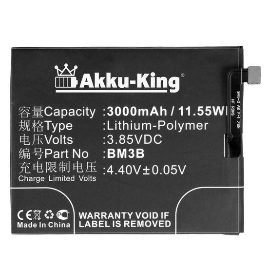 Akku-King Akku kompatibel mit Xiaomi BM3B - Li-Ion 3000mAh - für Xiaomi Mi Mix 2, Mi Mix 2S