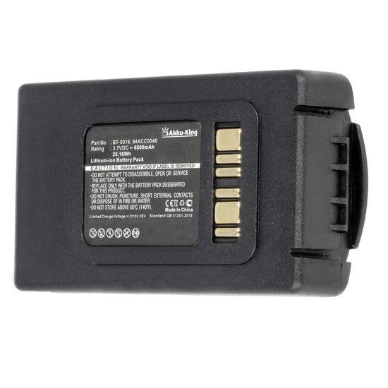 Akku-King Akku kompatibel mit Datalogic 94ACC0046, 94ACC048, BT-0016 - Li-Ion 6800mAh - für Datalogic Skorpio X3, X4