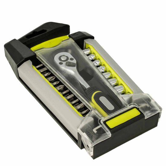 Ratschenschrauber inkl. 33-teiligem Bitsatz  - für ein maximales Drehmoment bei Schraub- und Montagearbeiten