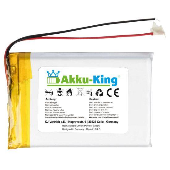 Akku-King Lithium Polymer Akku - 3.7V 2000mAh - 66 x 44 x 6,3mm
