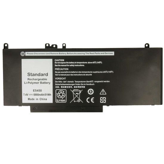 Akku kompatibel mit Dell Latitude 3150, 3160, E5250, E5450, E5550 - ersetzt Dell 6MT4T, 8V5GX, G5M10 - Li-Ion 6900mAh 7.4V - schwarz