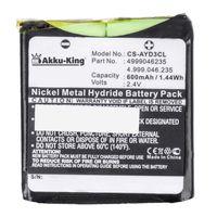 Akku kompatibel mit AVAYA DECT D3, DETEWE OpenPhone 24 - ersetzt 4999046235 - Li-Ion 600mAh