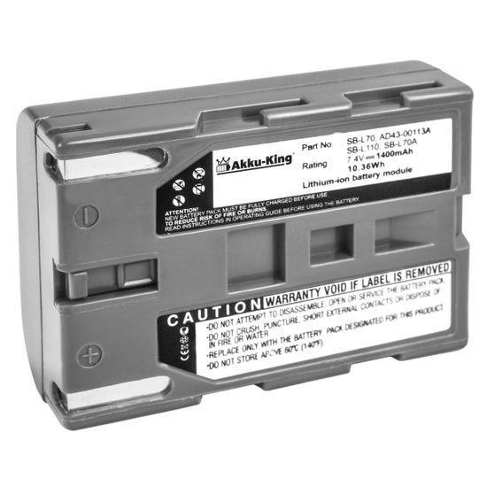 Akku kompatibel mit Samsung VP-D101, VP-D301, VP-D21, SCD20, SCD31, MEDION MD41859, MD9090 - ersetzt SB-L110 Li-Ion - 1400mAh